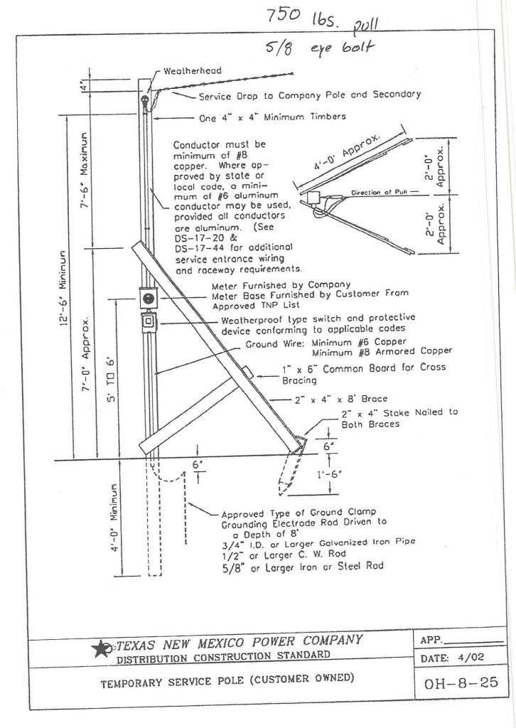 tnp t pole requirements 2016 726x1024 texas new mexico t pole requirements 2016prolectric electricians wiring diagram for temporary power pole at readyjetset.co